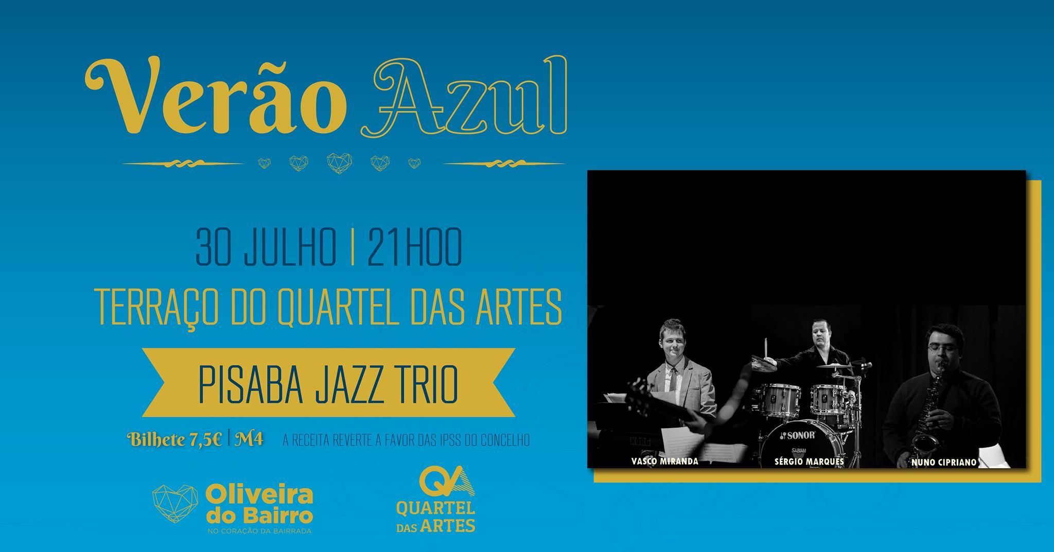 Noites no QA - Às sextas, música no terraço Pisaba Jazz Trio