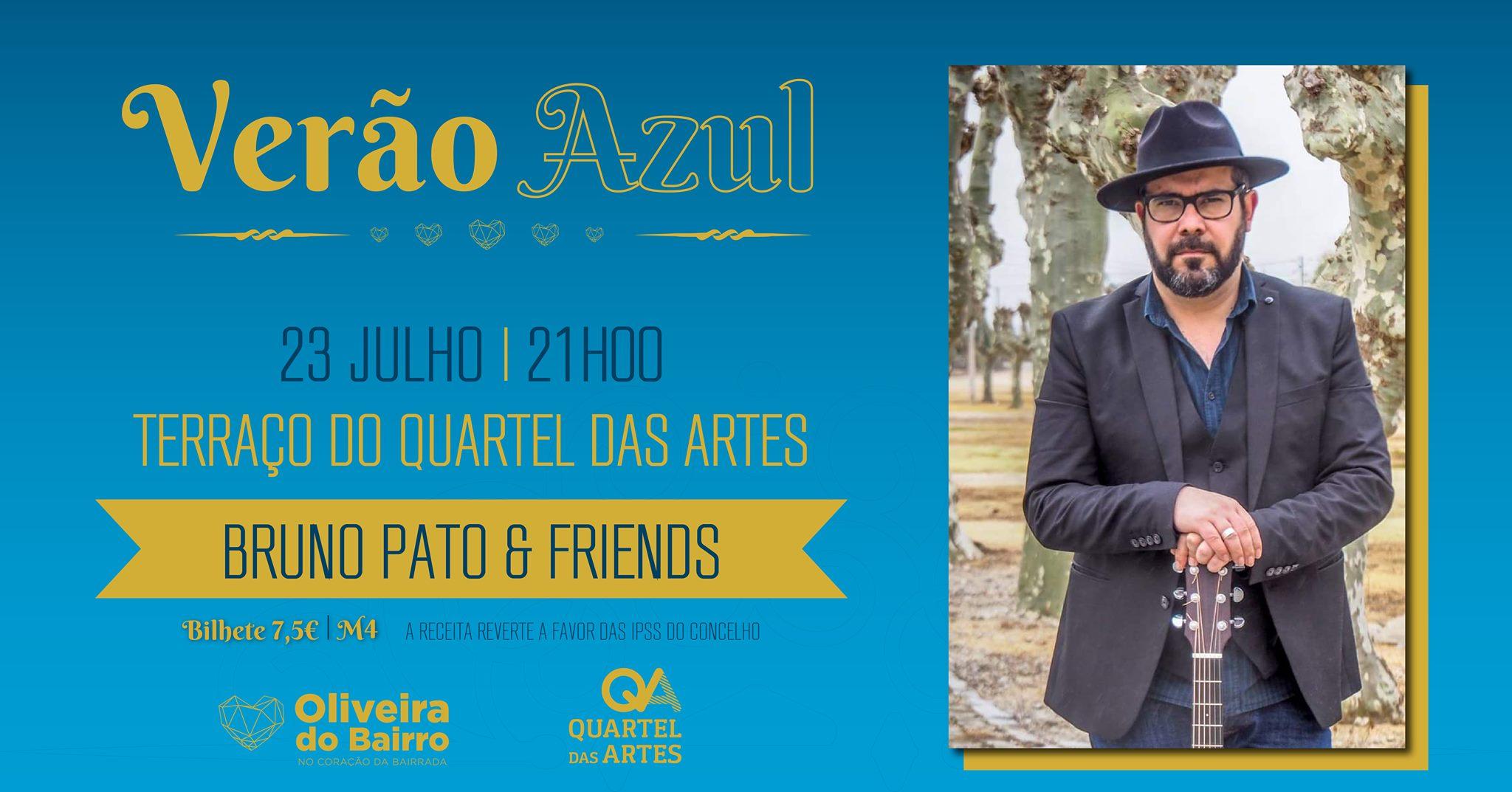 Noites no QA - Às sextas, música no terraço Bruno Pato & Friends