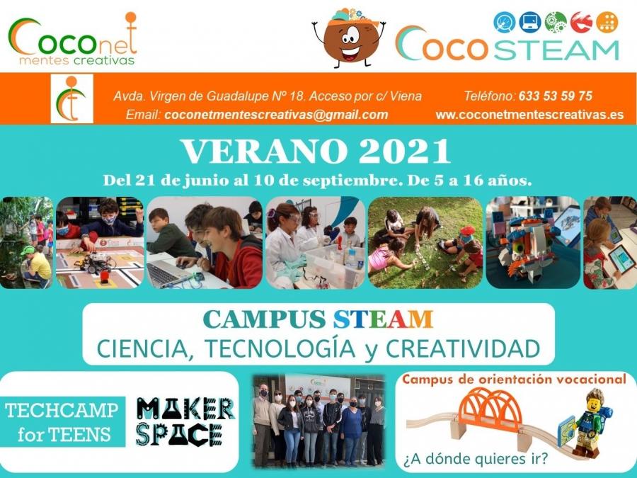 CAMPUS DE VERANO EN COCONET: STEAM de 5 a 12 años