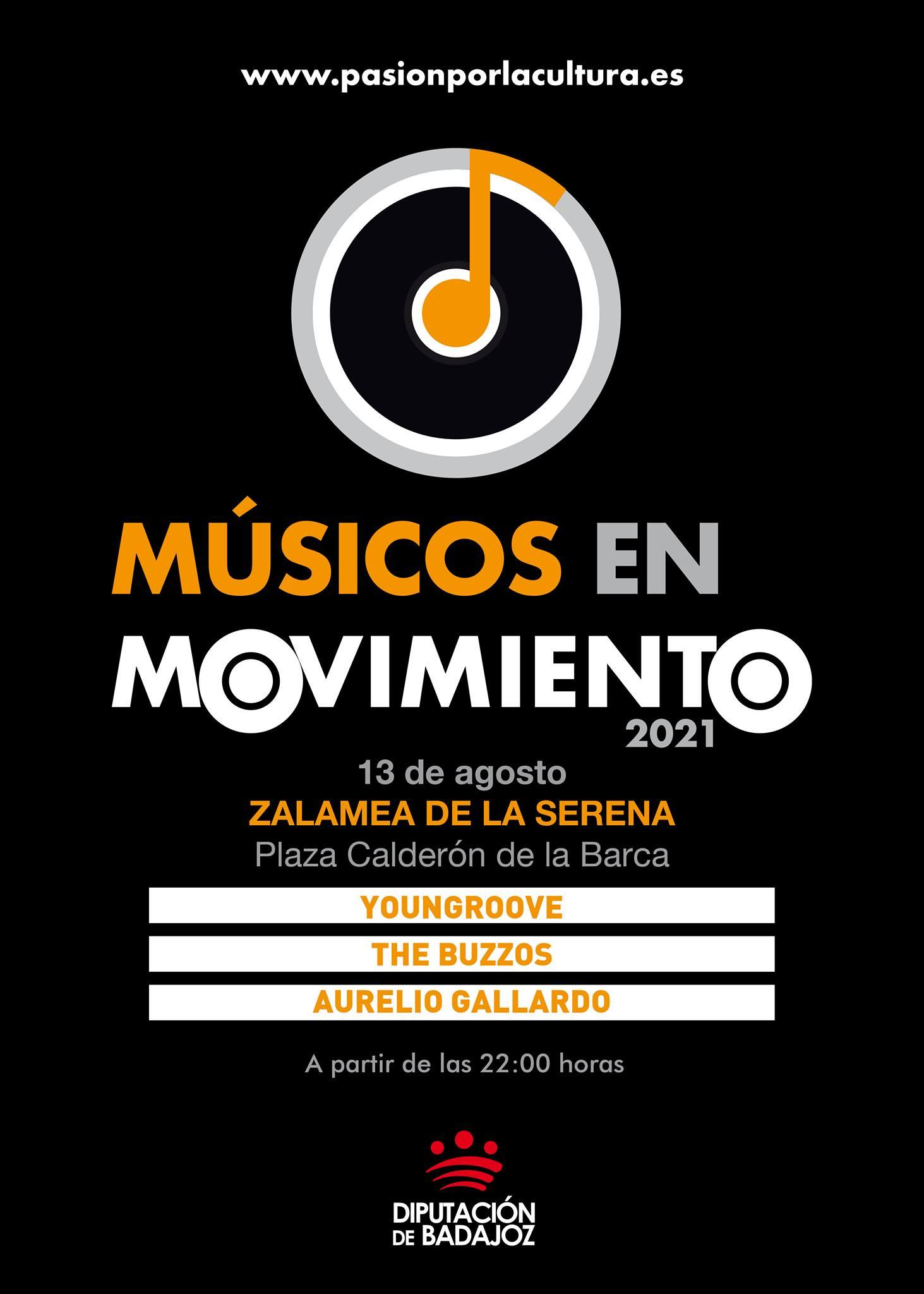MÚSICOS EN MOVIMIENTO | Youngroove + The Buzzos + Aurelio Gallardo