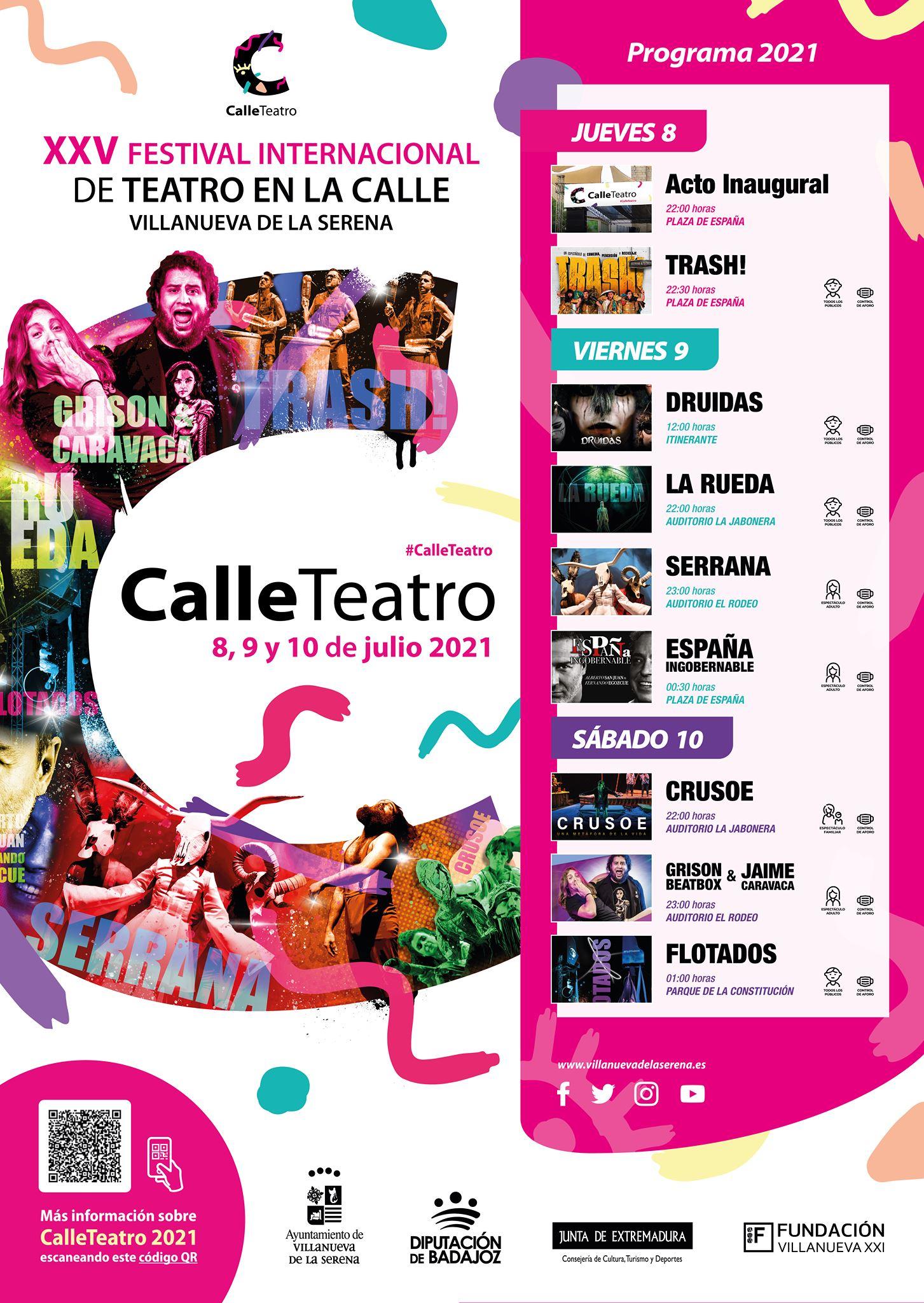 Acto inaugural y apertura de la XXV Edición del Festival Internacional de Teatro en la Calle
