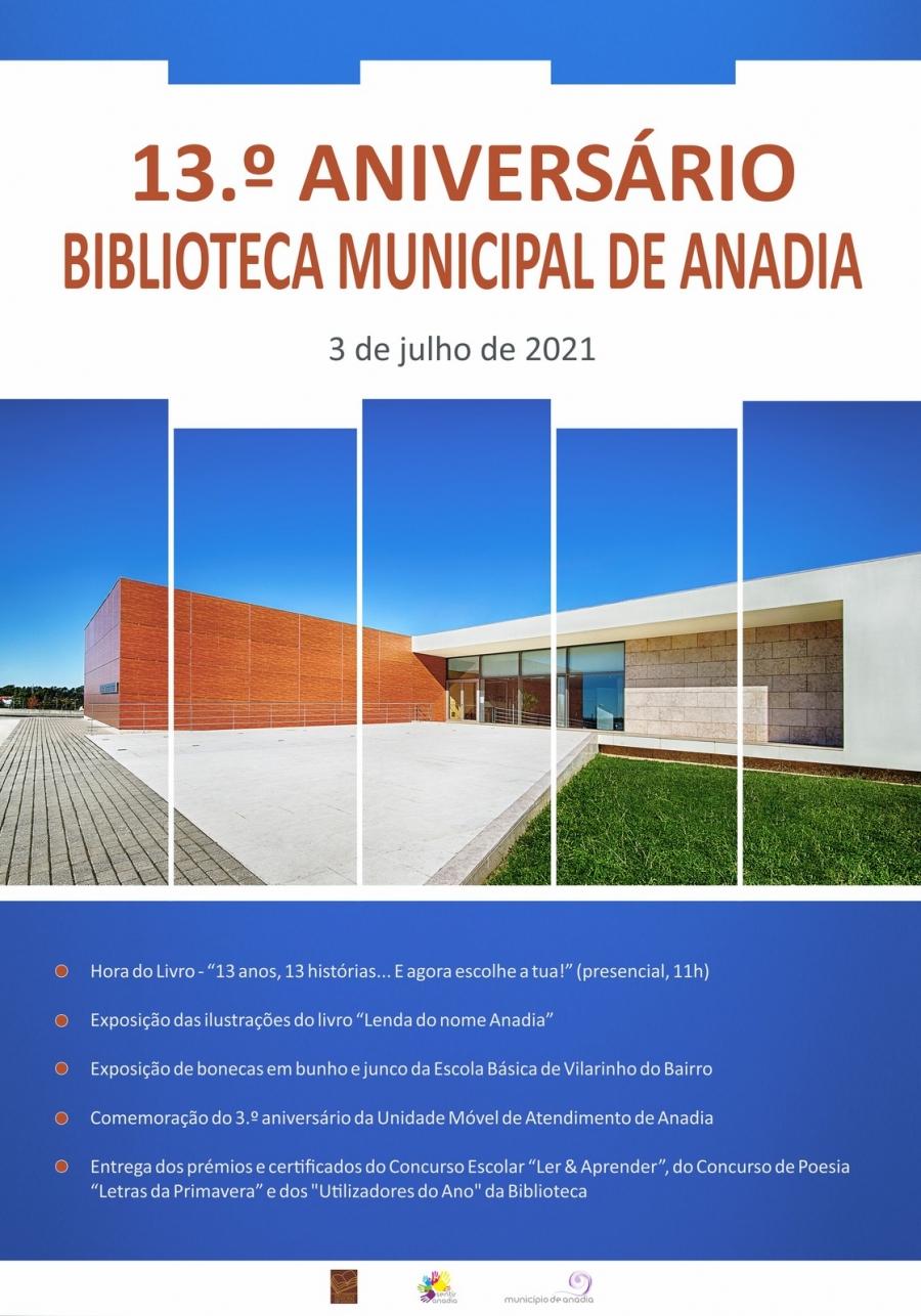 Comemoração do 13.º Aniversário nda Biblioteca Municipal de Anadia