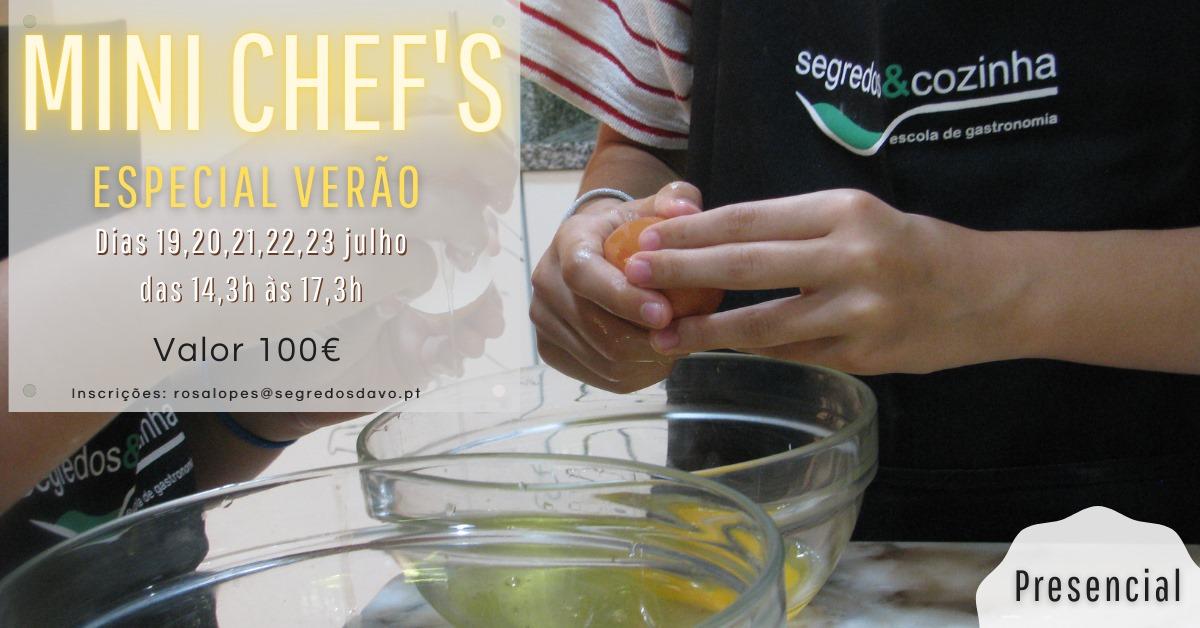 Formação Mini Chefs Verão'21 - Presencial - Nova Turma