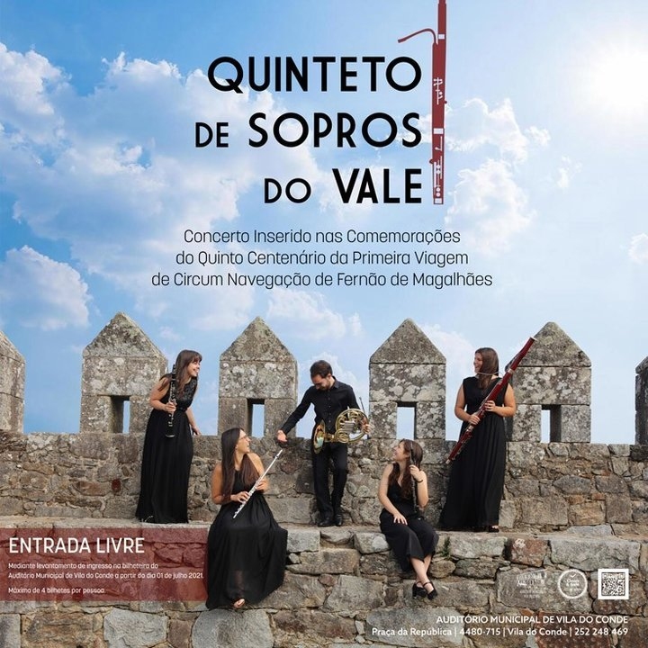Quinteto de Sopros do Vale no Auditório Municipal