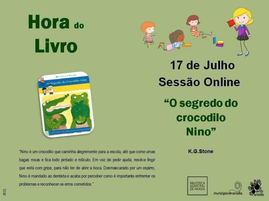 """Hora do Livro - """"O segredo do crocodilo Nino"""""""
