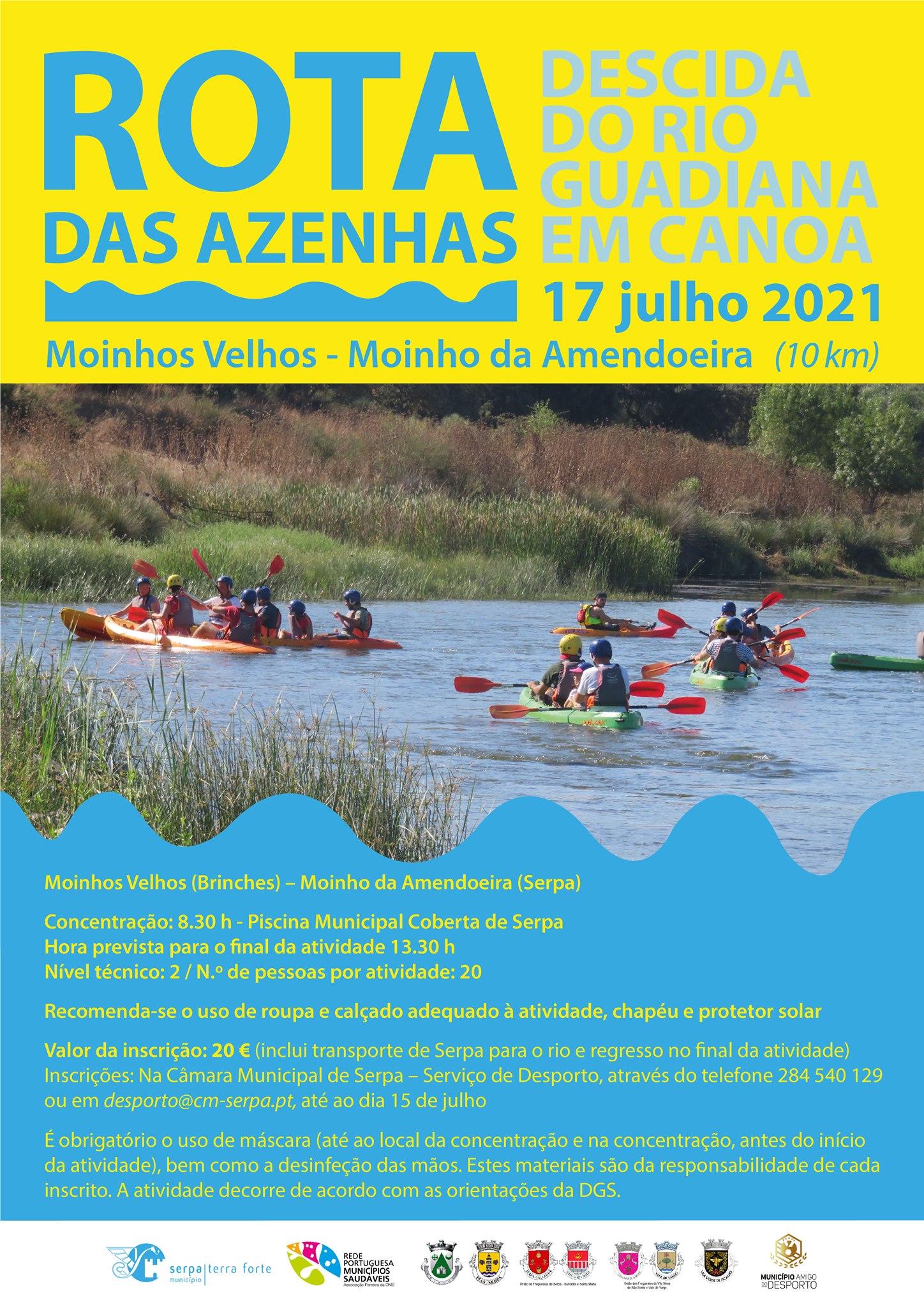Rota das Azenhas – Descida do Rio Guadiana em Canoa