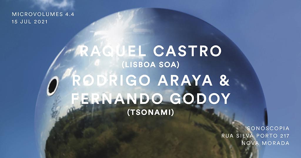 Microvolumes 4.4   Rodrigo Araya & Fernando Godoy (Tsonami) + Raquel Castro (Lisboa Soa)