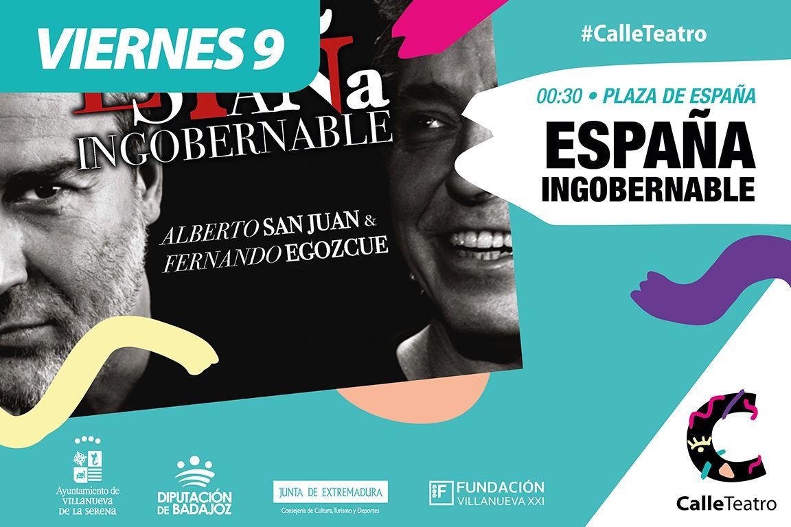 Espectáculo 'España ingobernable' con Alberto San Juan y Fernando Egozcue #CalleTeatro