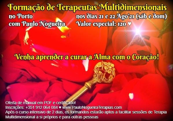 Curso de Terapia Multidimensional no Porto em Ago'21