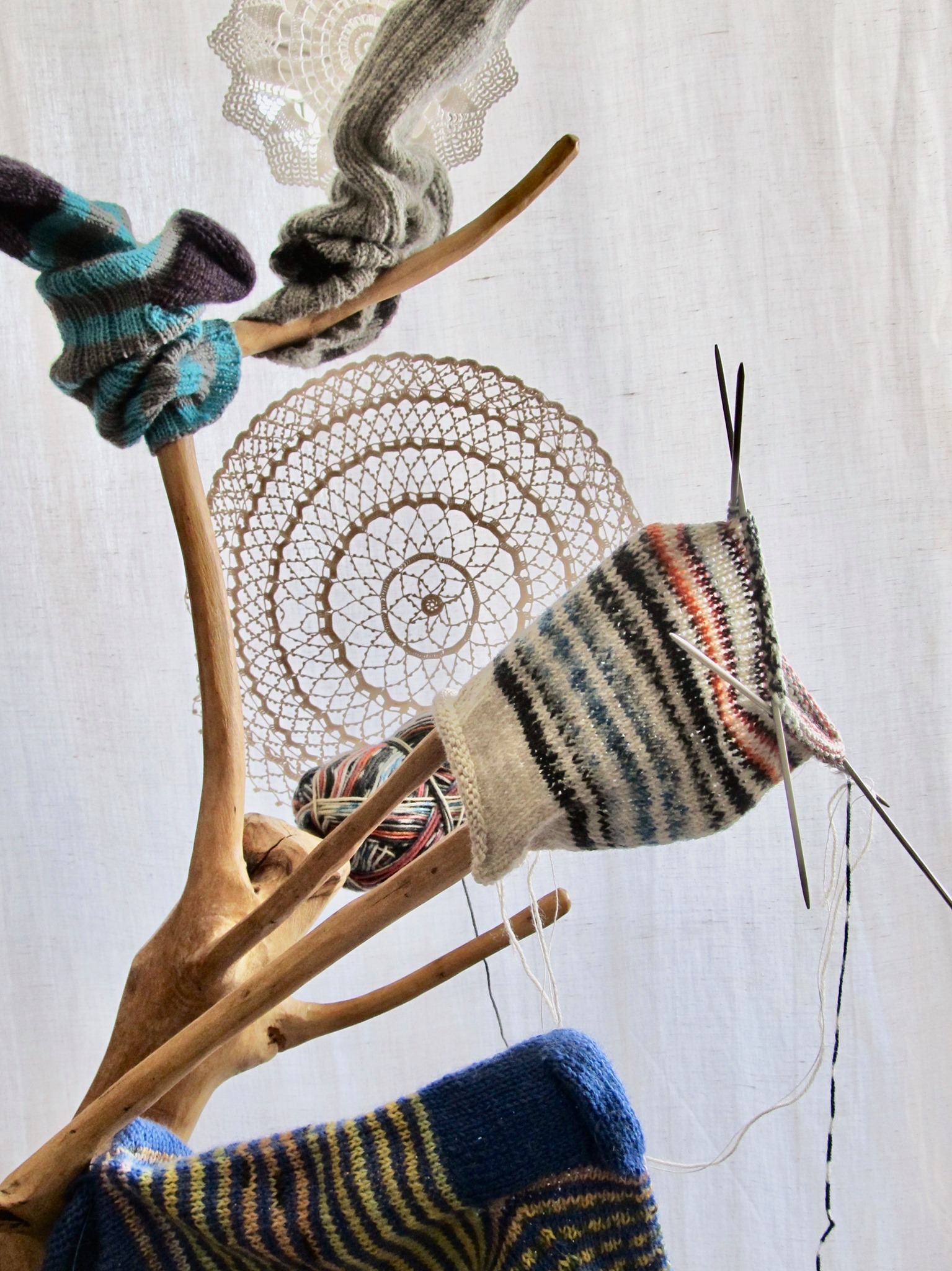 Tricot com 5 agulhas - Knitting with 5 needles