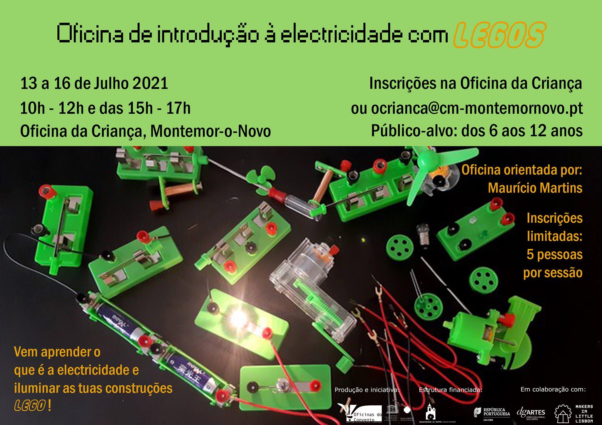 Oficina de introdução à electricidade com Legos