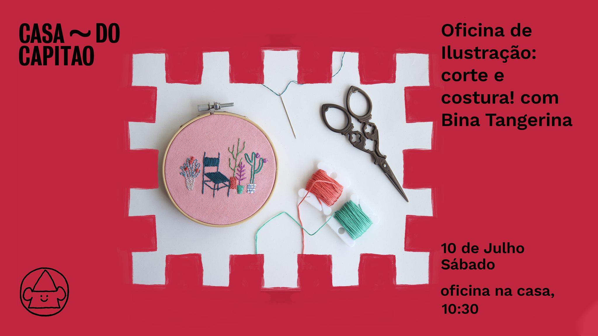 Oficina de Ilustração: corte e costura! com Bina Tangerina