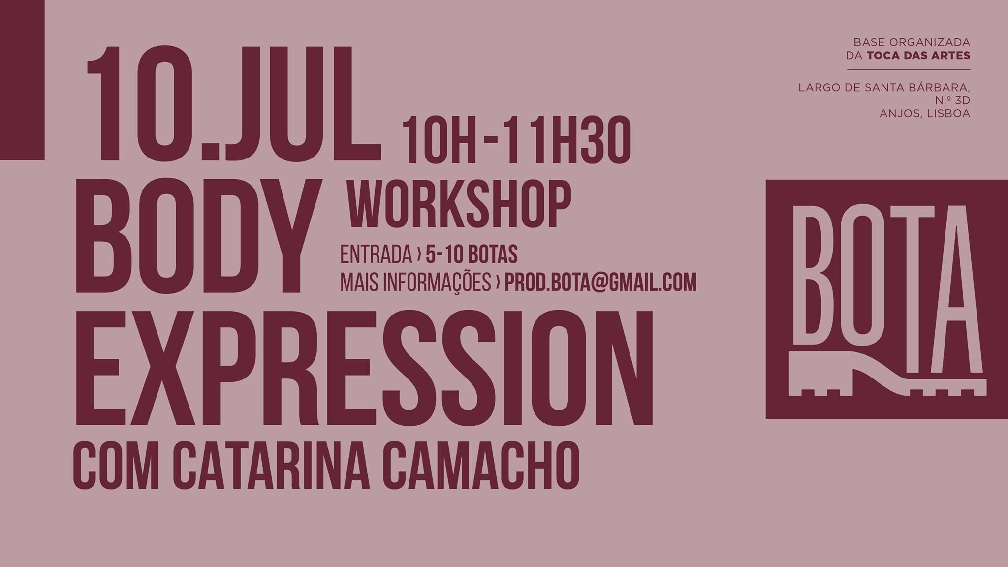 Workshop Body Expression com Catarina Camacho