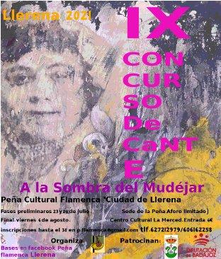 "IX Concurso de Cante Flamenco ""A la sombra del mudéjar"""