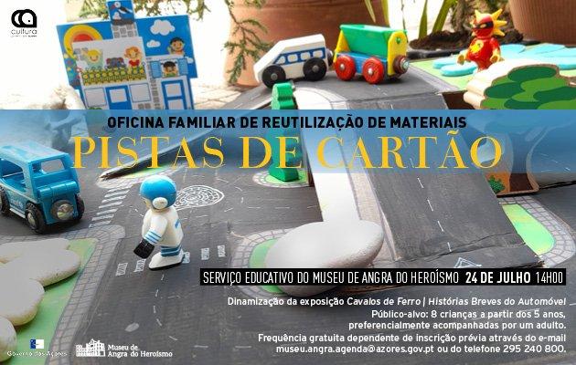 Pistas de cartão - Oficina familiar de reutilização de materiais