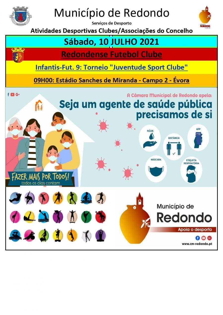 Atividades desportivas dos Clubes/ Associações do Concelho de Redondo – 10 de julho