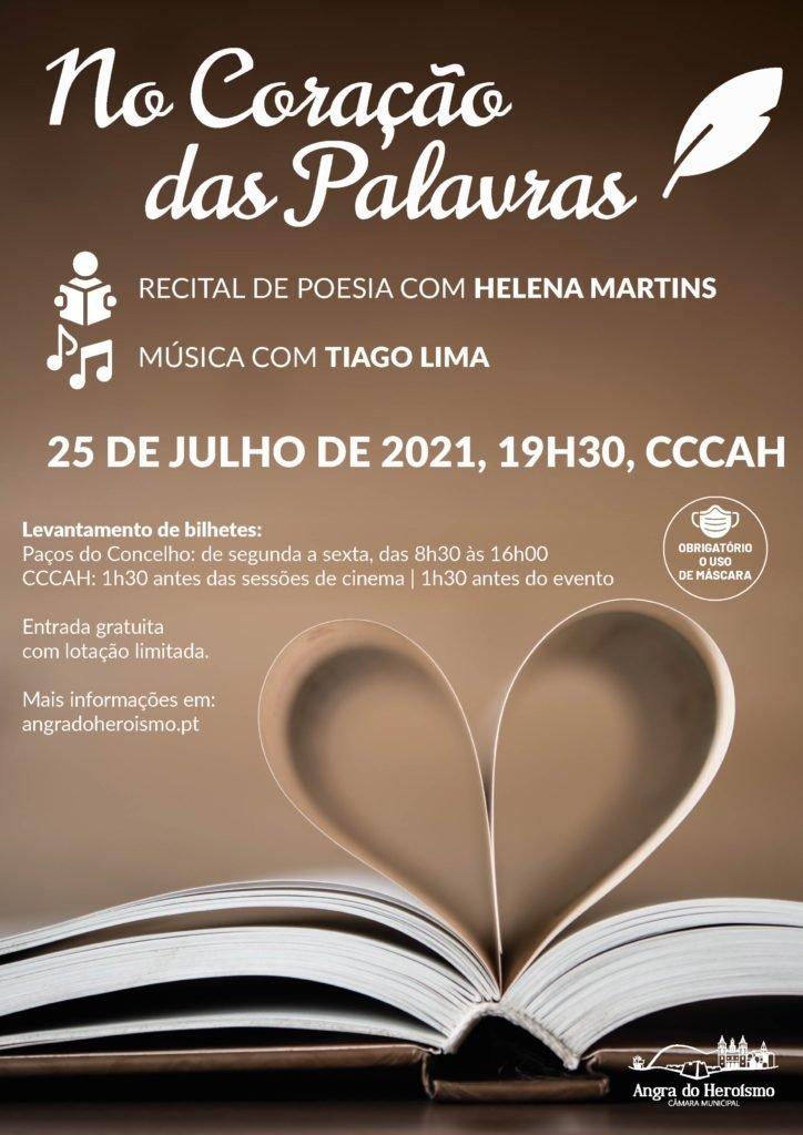 No Coração das Palavras – Helena Martins acompanhada por Tiago Lima