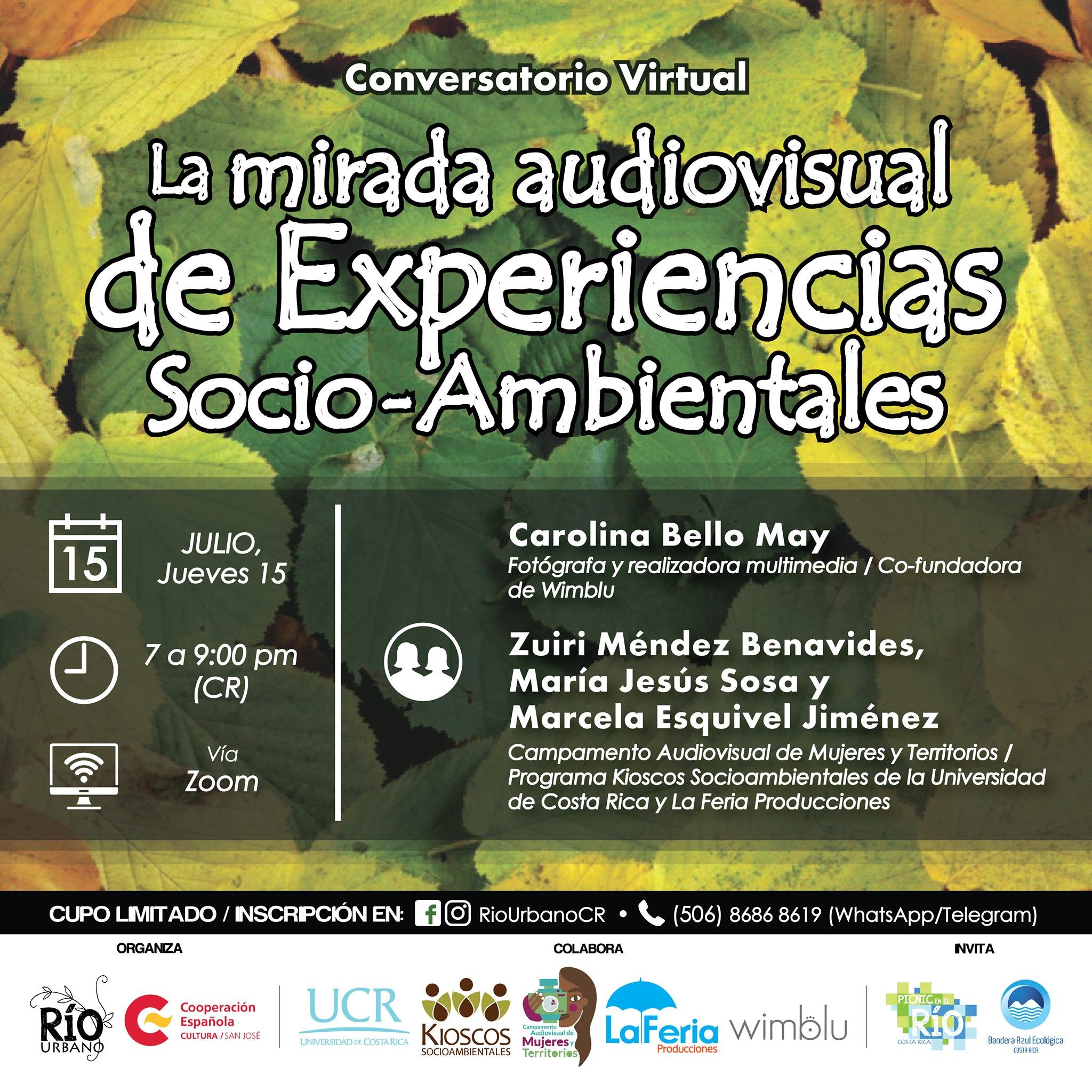 Conversatorio: 'La mirada audiovisual de experiencias socioambientales'