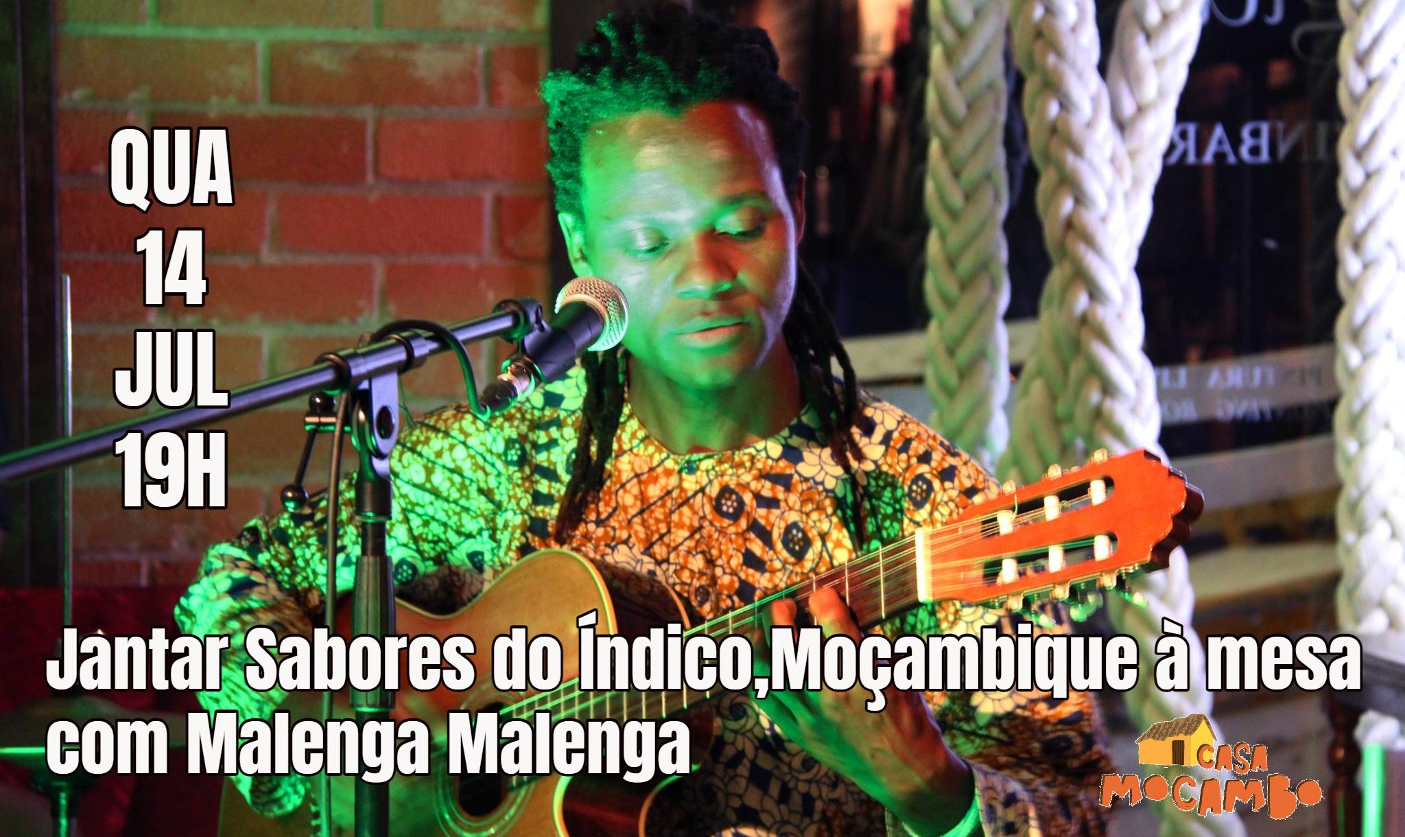 Jantar Sabores do Índico, Moçambique à mesa com Malenga Malenga