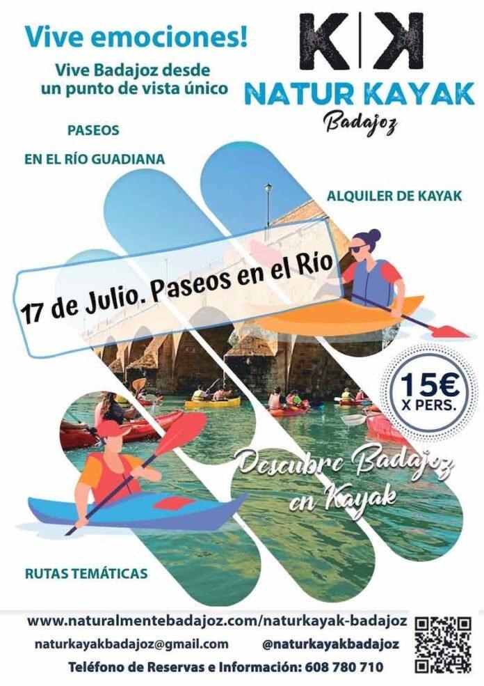 Paseos en Kayak por el Guadiana