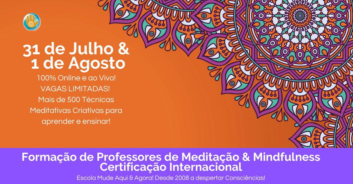 Professores Meditação & Mindfulness Certificado Internacional Online