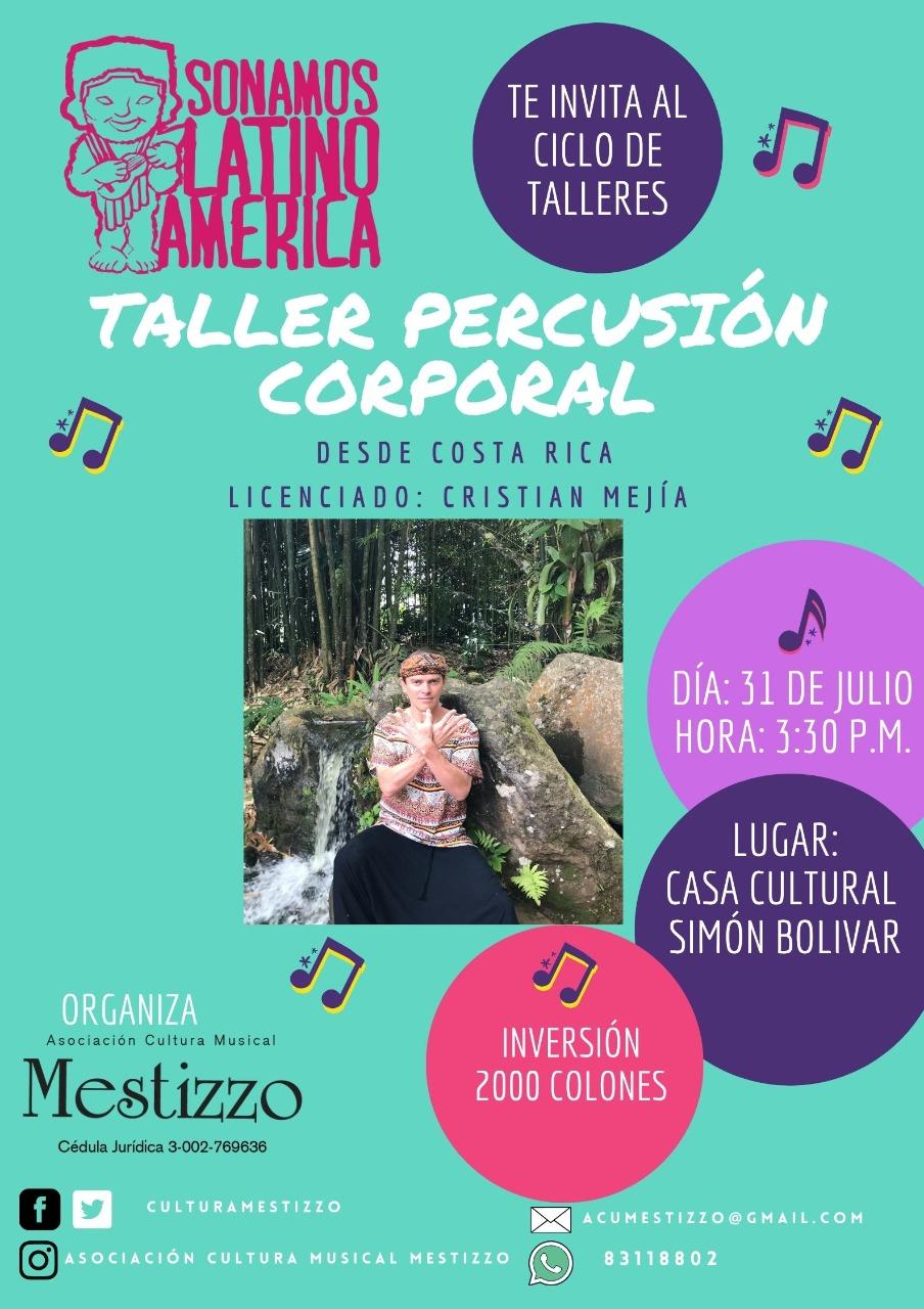 Taller de Percusión Corporal / Sonamos Latinoamérica Costa Rica 2021
