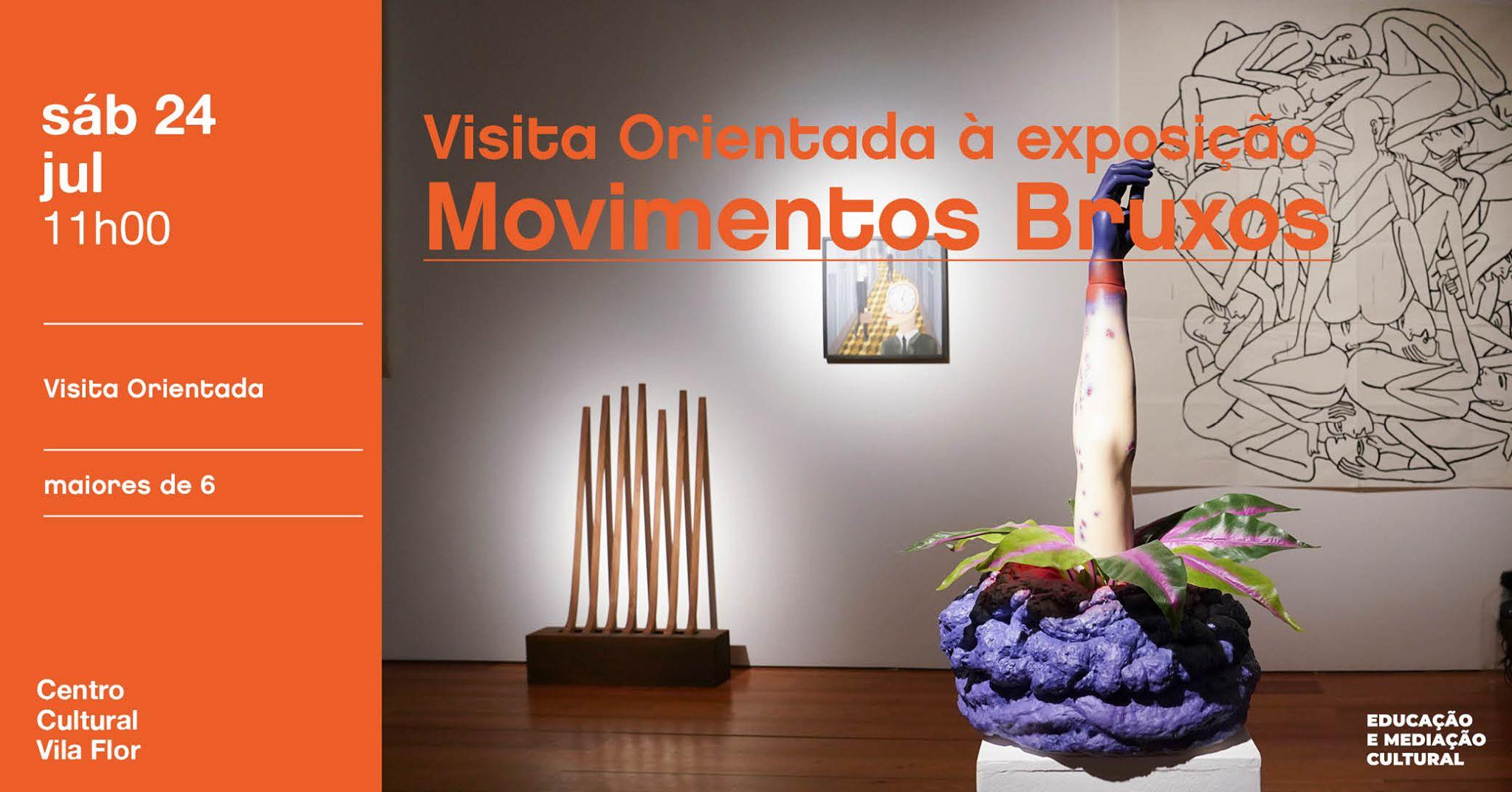Visita orientada à exposição Movimentos Bruxos