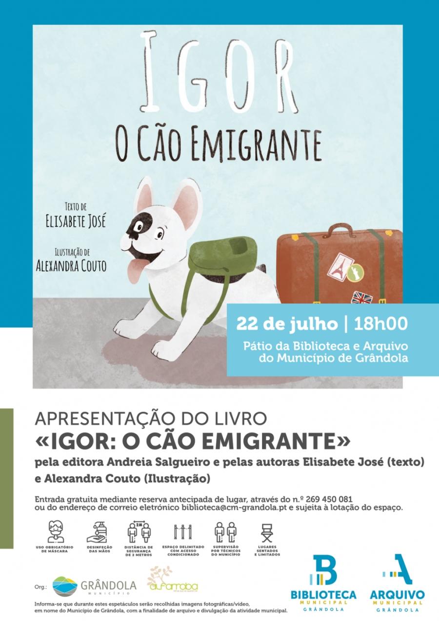 Apresentação do livro ' Igor: O Cão Imigrante' | Pátio da Biblioteca e ...