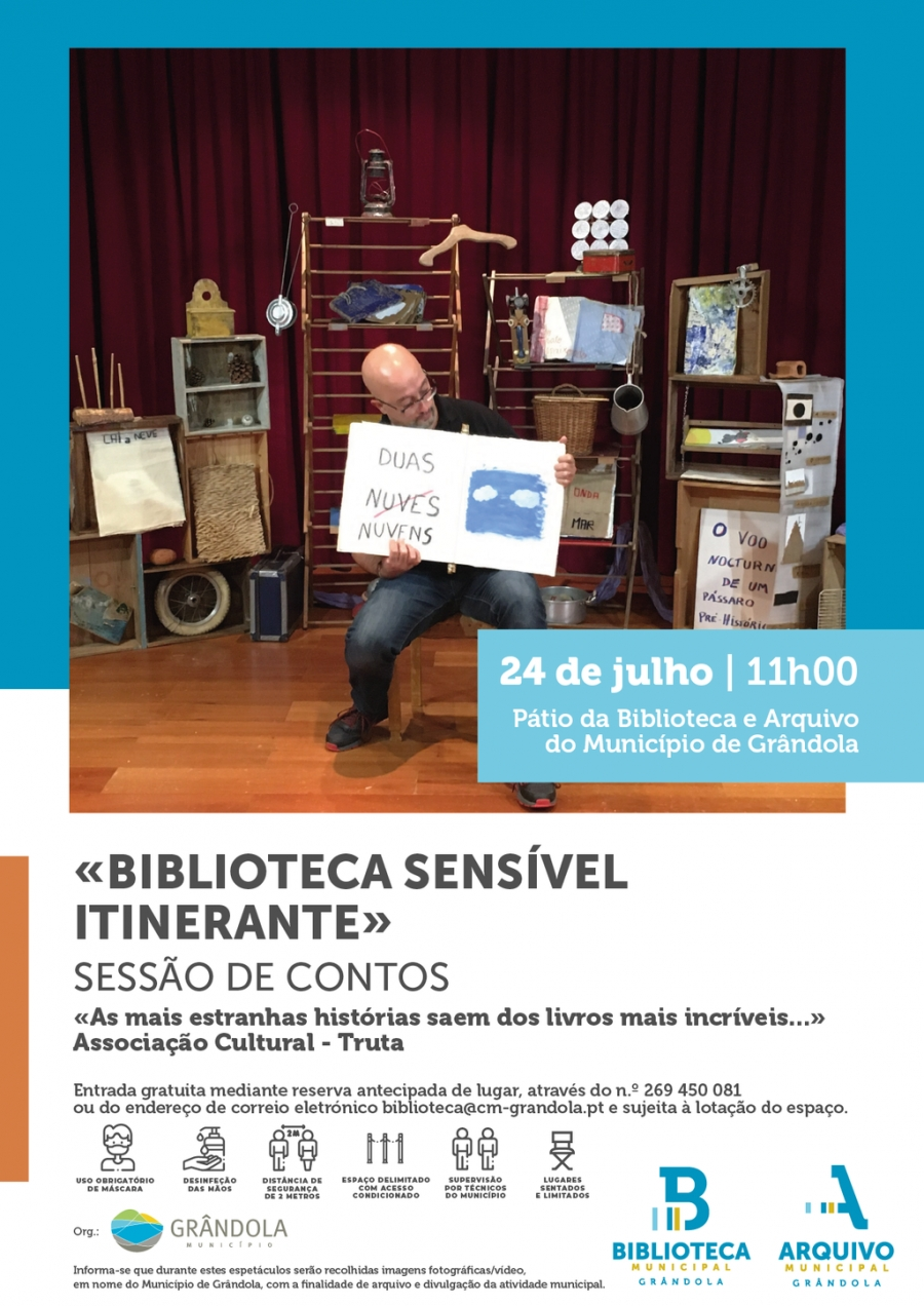 Animação de Verão | Pátio da Biblioteca e Arquivo de Grândola  |  Sessão de contos 'Biblioteca Sensível Itinerante'