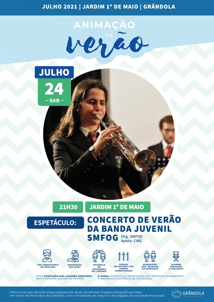 Animação de Verão   Jardim 1.º de Maio   Concerto de verão da Banda Juvenil da SMFOG