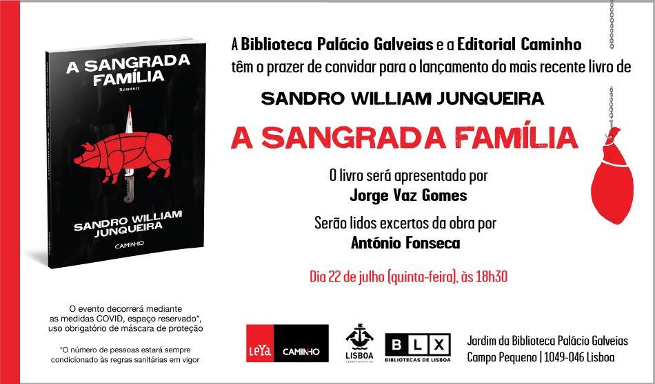 Lançamento do Livro 'A Sangrada Família', de Sandro William Junqueira