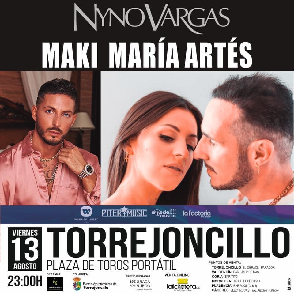 Concierto Nyno Vargas, Maki y María Artés en Torrejoncillo