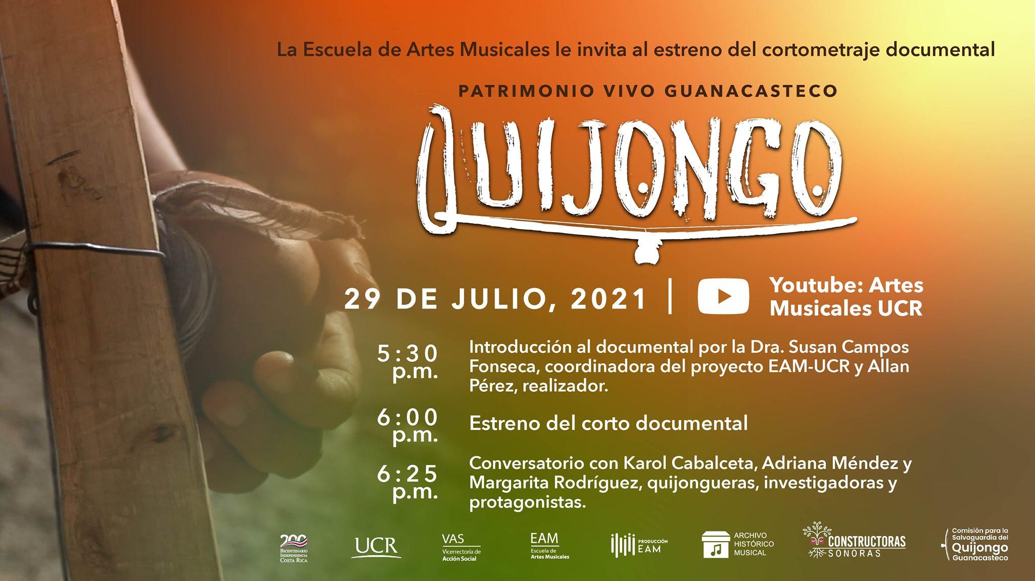 Quijongo, Patrimonio Vivo Guanacasteco (Estreno cortometraje documental)