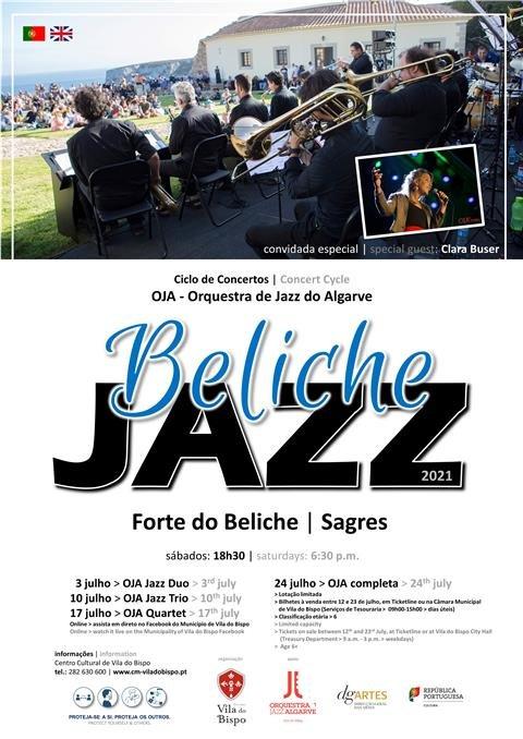 Orquestra de Jazz do Algarve e Clara Buser no Forte do Beliche