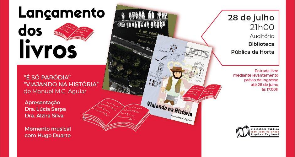 """Lançamento dos livros """"É Só Paródia"""" e """"Viajando na História"""""""