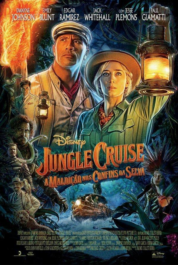 Exibição do filme ' Jungle Cruise - a maldição nos confins da selva'