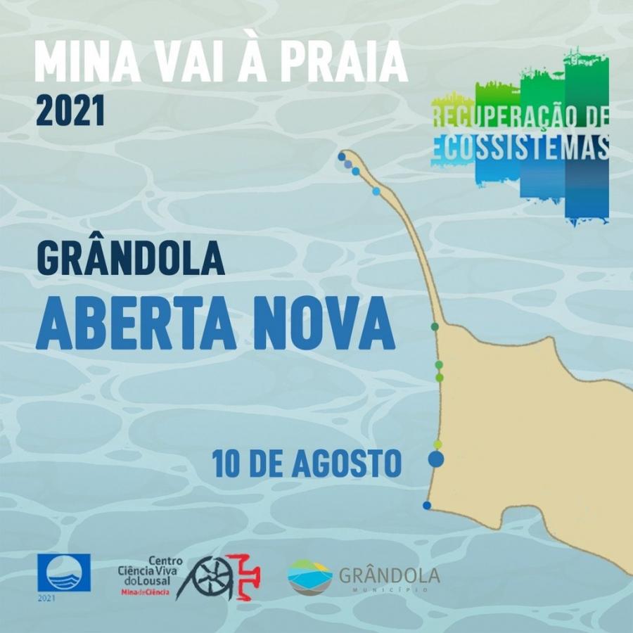 Mina vai à praia | Aberta Nova | 10 agosto |