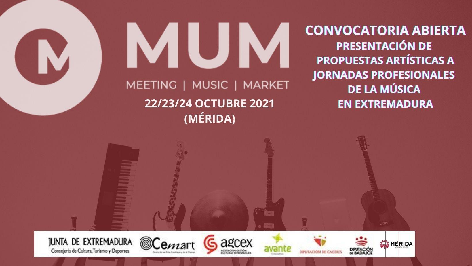 Convocatoria abierta para presentar propuestas artísticas a MUM21.