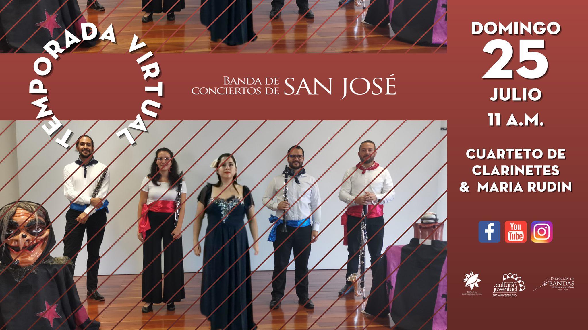 Decimo Concierto Virtual 2021 / Cuarteto de Clarinetes junto a María Rudín