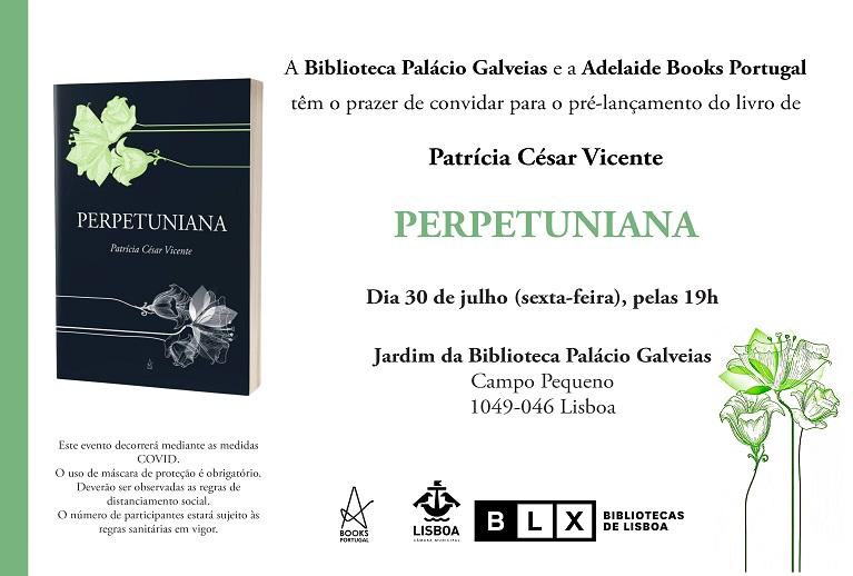 Lançamento do Livro Perpetuniana, de Patrícia César Vicente