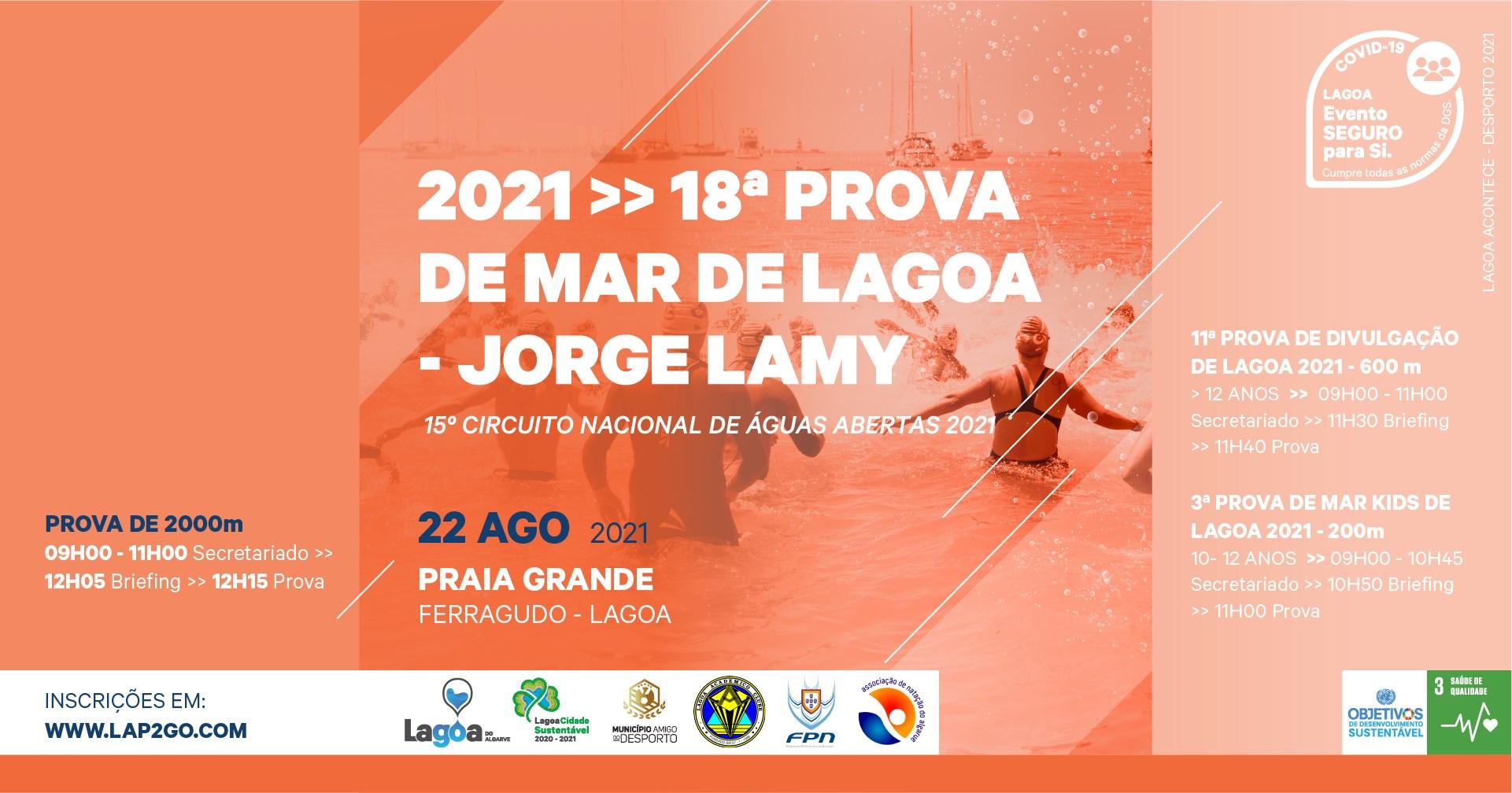 18.ª Prova de Mar de Lagoa 'Jorge Lamy' | 15.º Circuito Nacional de Águas Abertas