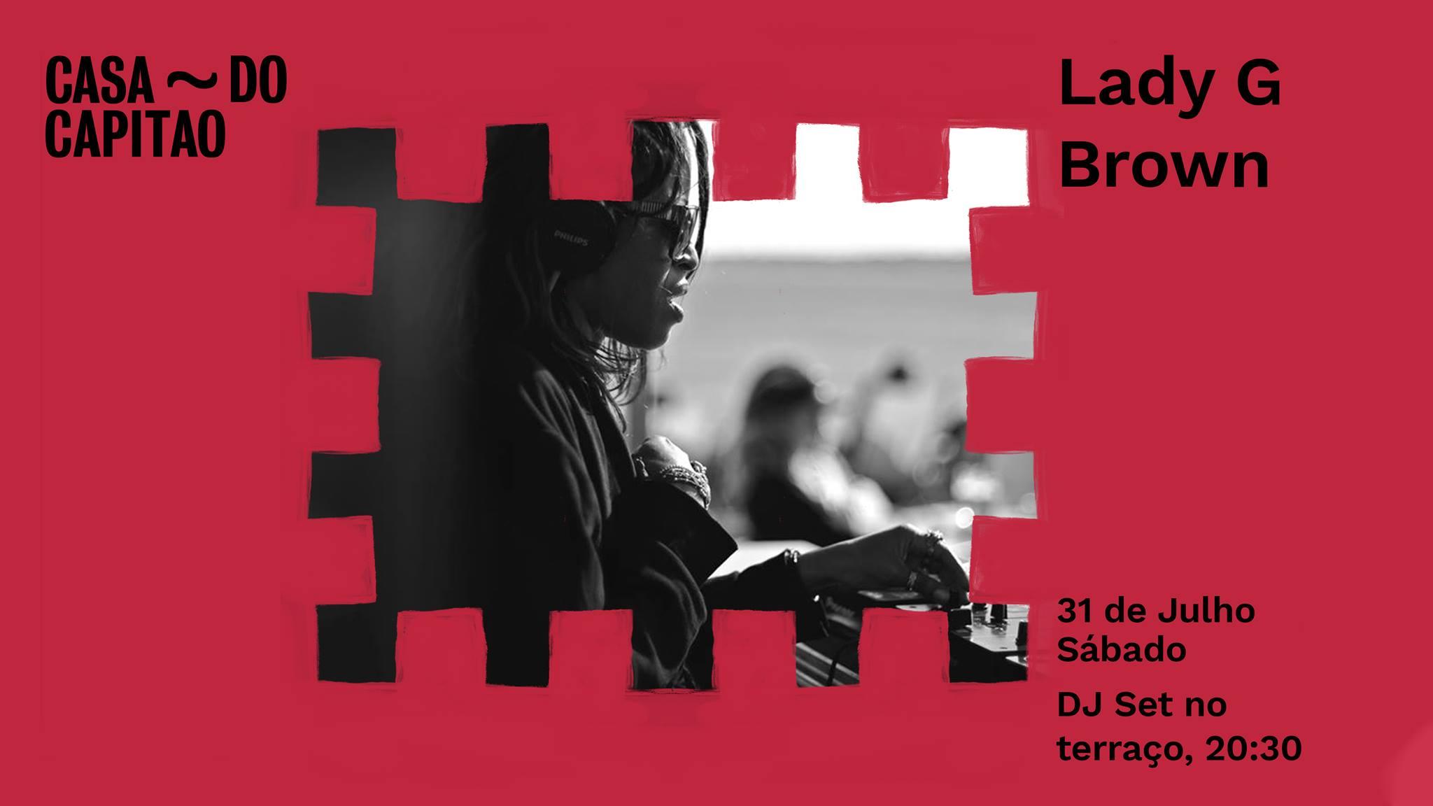 Lady G Brown • DJ set no terraço