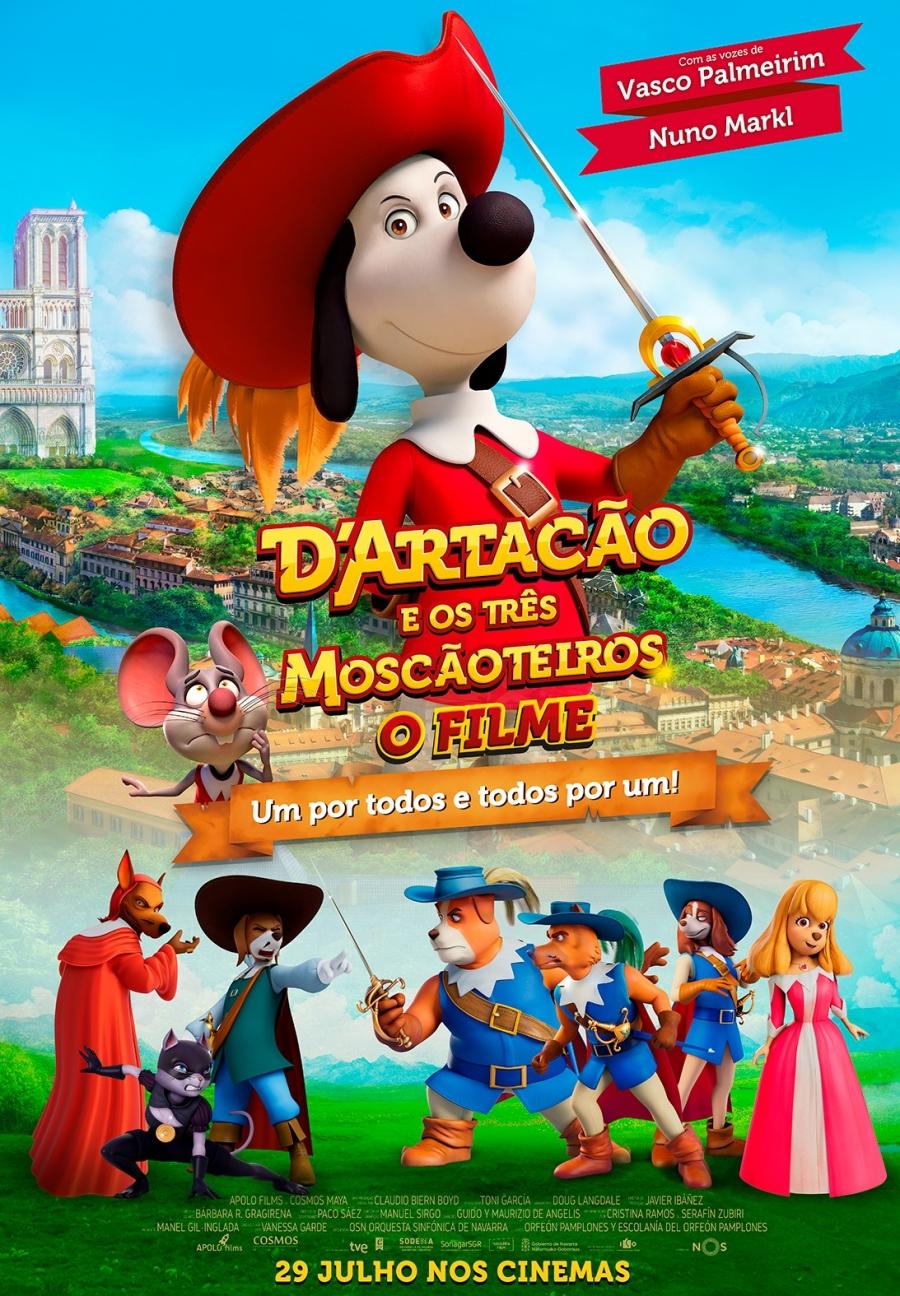 Exibição do filme D'Artacão e os Três Moscãoteiros