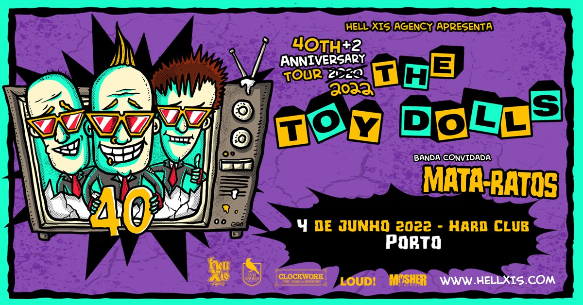 The Toy Dolls + Mata Ratos @ Hard Club - Porto