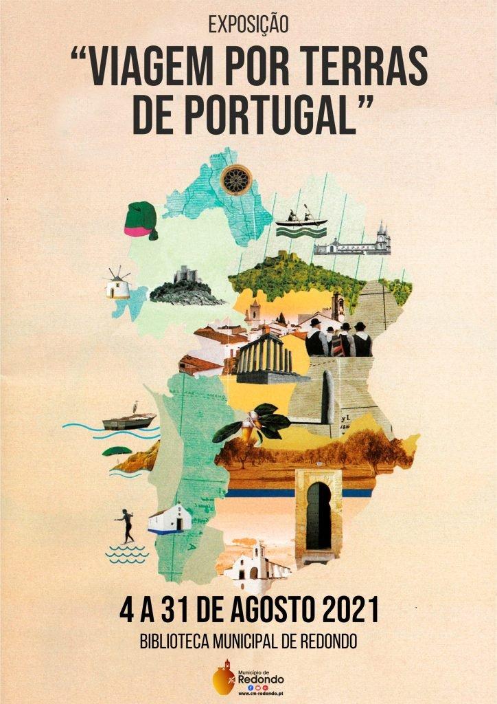 """Exposição """"Viagem por terras de Portugal""""   04 a 31 de agosto   Biblioteca Municipal de Redondo"""
