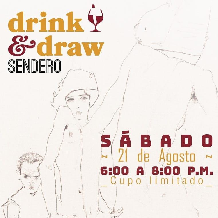 Drink and draw Sendero