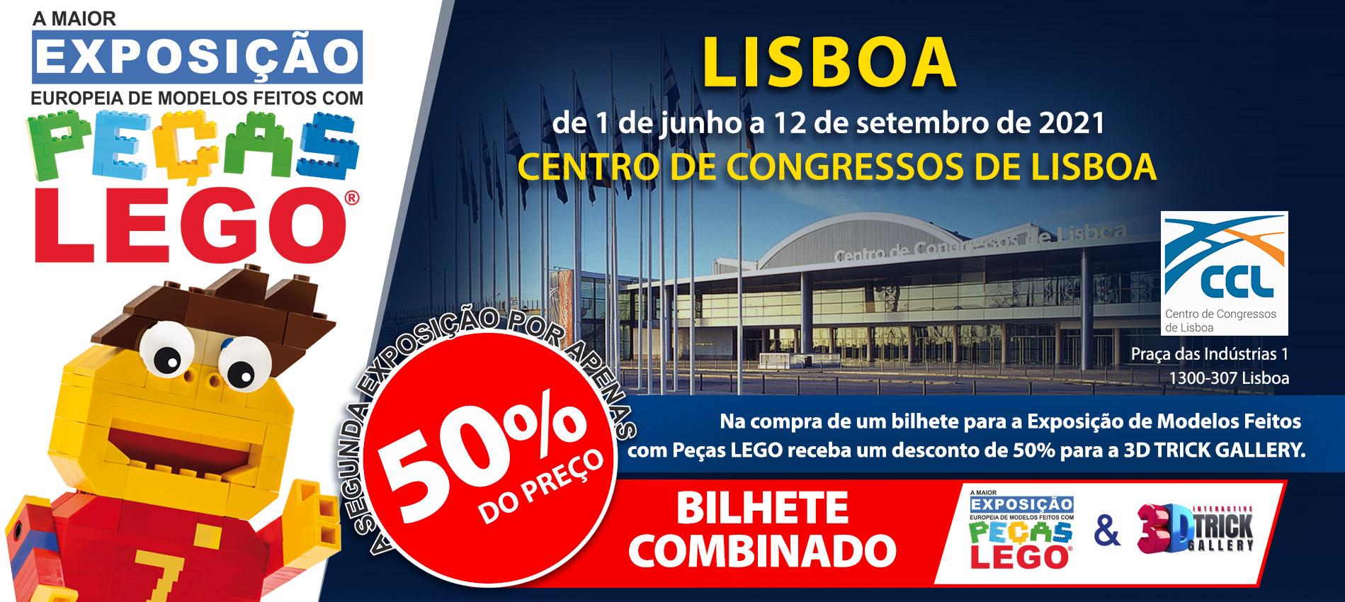 Exposição Peças Lego Belém - Centro de Congressos