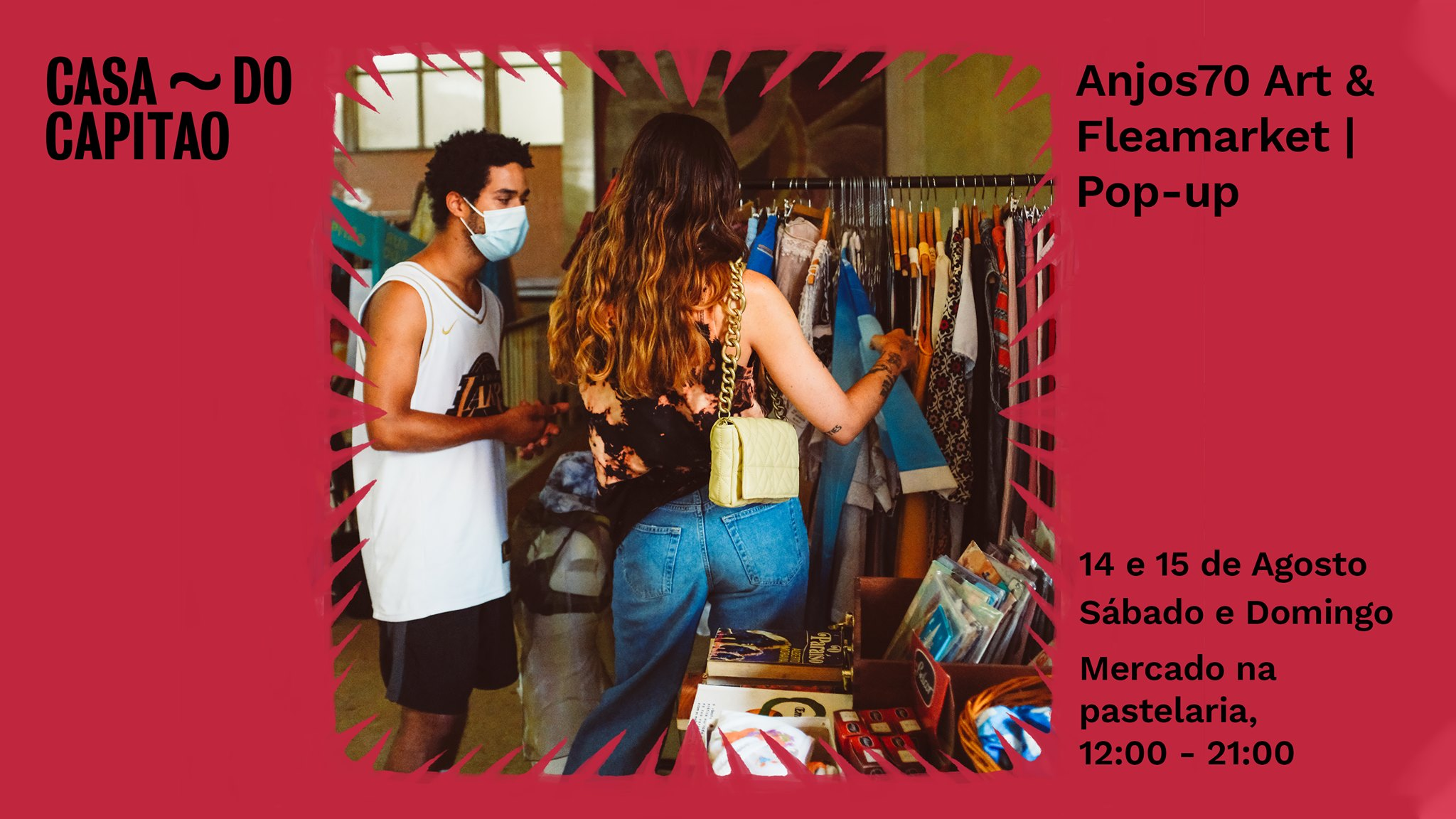 Anjos70 Art & Fleamarket | Pop-up • Mercado na pastelaria