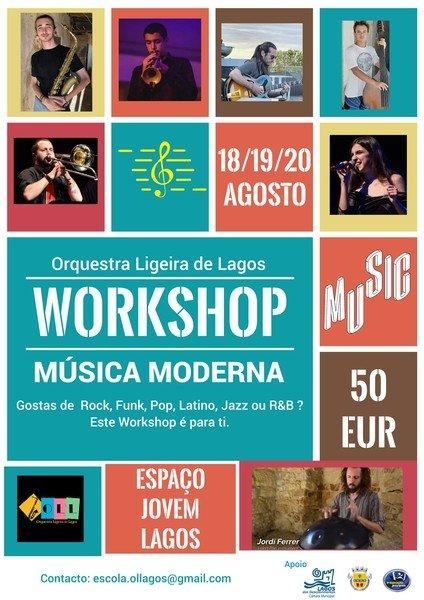 """WORKSHOP """"MÚSICA MODERNA"""", pela Orquestra Ligeira de Lagos"""