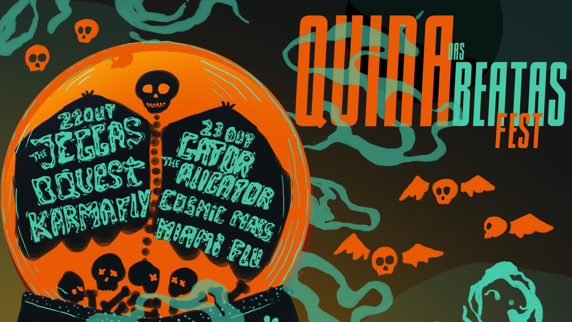 Quina das Beatas Fest :: The Jeggas+ B Quest+ Gator the Alligator+ Cosmic Mass+ Miami Flu